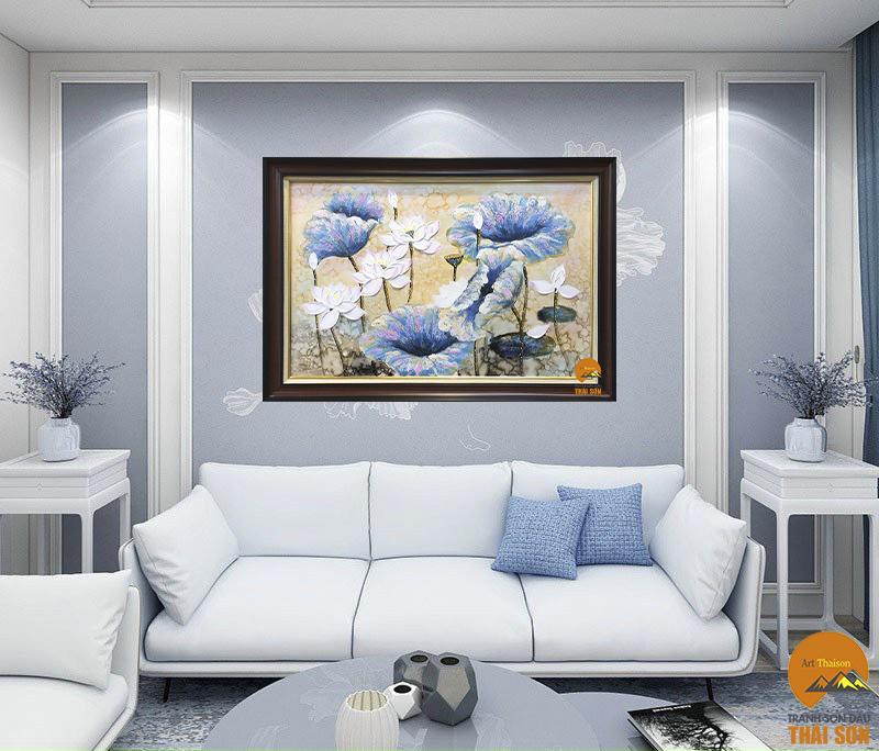 Tips 3 lý do nên chọn bức tranh hoa sen trang trí nội thất 2021